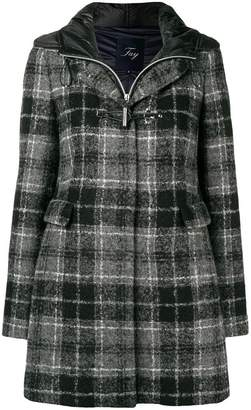 Fay tartan pattern coat