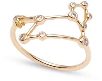 Lulu Frost Zodiacs 14k & Diamond Leo + Fire Ring