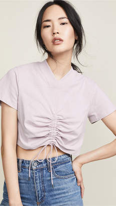 Alexander Wang High Twist Jersey Tee with Ties