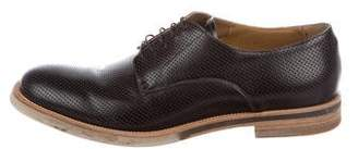 Giorgio Armani Perforated Leather Derby Shoes