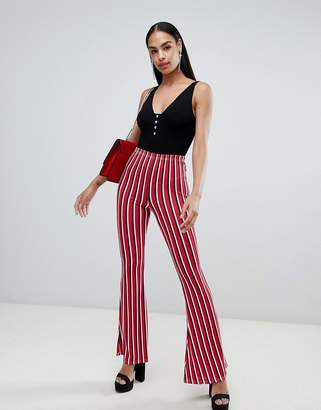 PrettyLittleThing Stripe Flare Pants