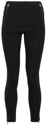 Herve Leger Zip-Detailed Stretch-Ponte Skinny Pants