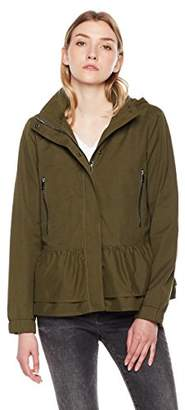 The Portland Plaid Co.women's lightweight Anorak hoodie jacket