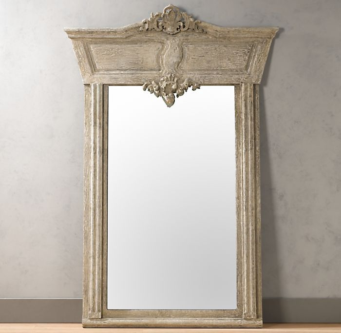 Manor House Whitewashed Mirror