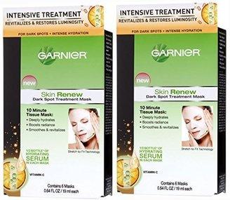 Garnier Dark Spot Treatment Mask for Dark Spots Plus Intense Hydration, 0.64 Fluid Ounce (Pack of 2) $21.99 thestylecure.com