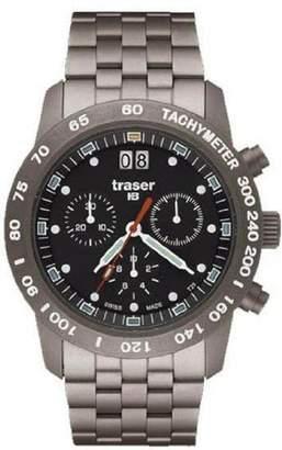 Traser Men's T4006.657.37.01 Silver Titanium Quartz Watch with Dial