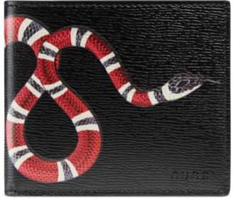 Gucci Kingsnake print GG Supreme wallet