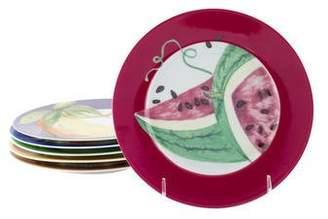 Philippe Deshoulieres Set of 6 Fruits Exotiques Dessert Plates