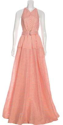 Lela Rose Belted Linen Dress w/ Tags White Belted Linen Dress w/ Tags