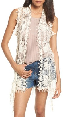 Women's Sun & Shadow Crochet Cotton Vest $49 thestylecure.com