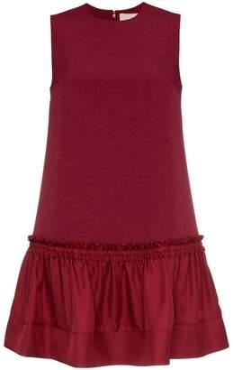 Roksanda Tanaga sleeveless ruffle silk blend shift dress