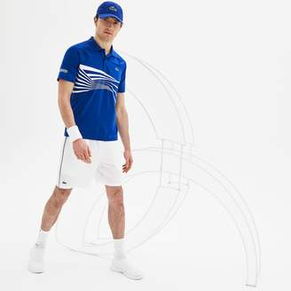 Lacoste Men's SPORT NOVAK DJOKOVIC SUPPORT WITH STYLE COLLECTION Piped Stretch Technical Shorts