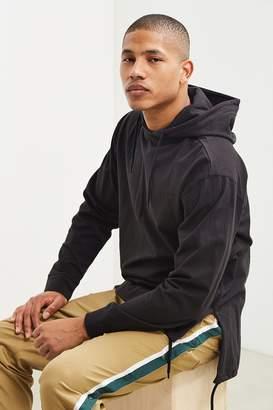Urban Outfitters Tie Split Hooded Long Sleeve Tee