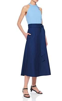 Tibi Lightweight Denim Wrap Skirt