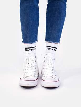 Mother Denim Matched Women's Sock Set Fu@ker