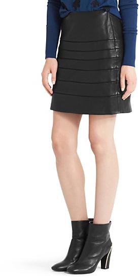 Diane von Furstenberg Beverly Leather Paneled Skirt