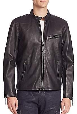 Racer Leather Café Lambskin Men's Jacket sdthQrC
