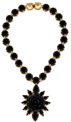 pradaPrada Rose Crystal Necklace