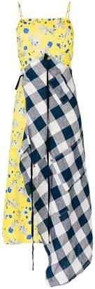 R 13 patchwork asymmetric dress