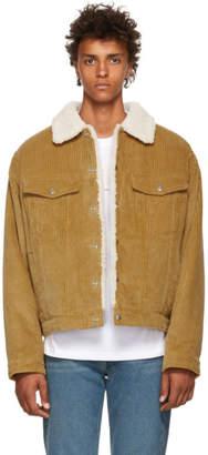 Alexander Wang Yellow Wide Wale Corduroy Jacket