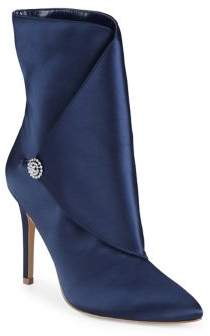 Charles by Charles David Pistol Stiletto Heeled Satin Boots