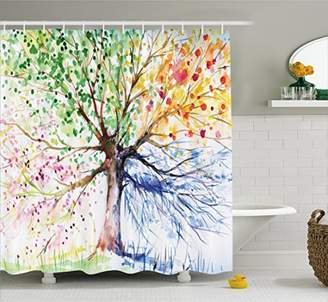Colorful Tree Four Seasons Shower Curtain