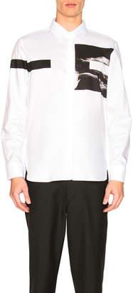 Neil Barrett Liquid Ink Square Shirt