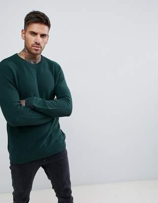 Pull&Bear crew neck sweater in green