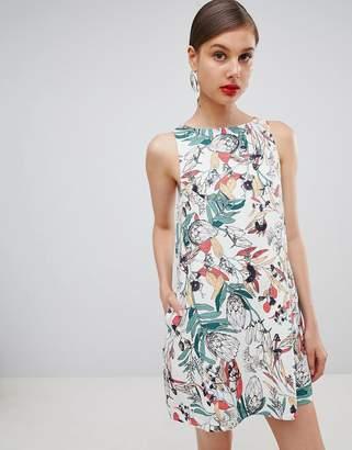 Ryder Luna Leaf Print Dress