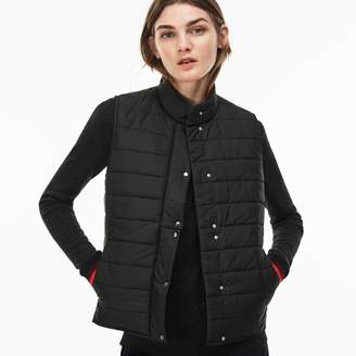 Lacoste Women's Lightweight Quilted Down Taffeta Vest