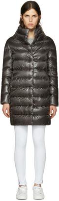 Herno Grey Down Cocoon Coat $665 thestylecure.com