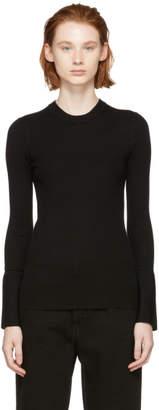 Proenza Schouler Black Silk Cashmere Crewneck Sweater