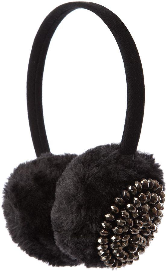 Beaded Fluffy Ear Muffs