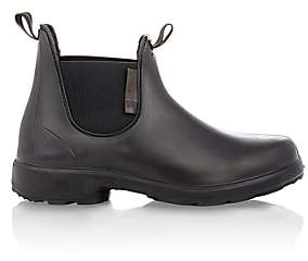 Barneys New York Men's Rubber Chelsea Boots-Black