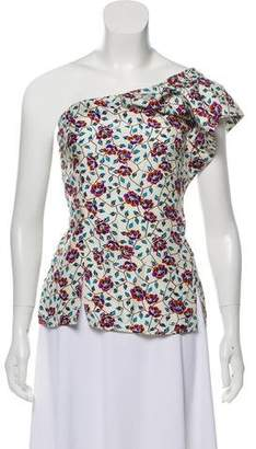 Isabel Marant One-Shoulder Floral Top
