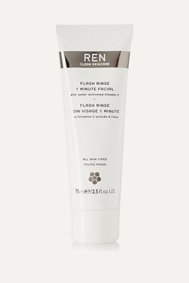 Ren Skincare Flash Rinse 1 Minute Facial, 75ml - one size