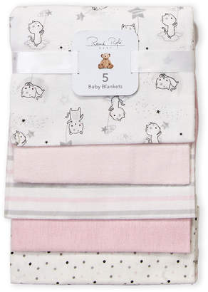 Rene Rofe Newborn/Infant) 5-Pack Pink Cats Baby Blankets