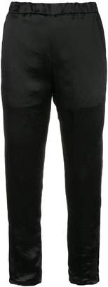 H Beauty&Youth slim satin trousers