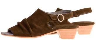 BA&SH Bottega Bash Green & Khaki Sandal