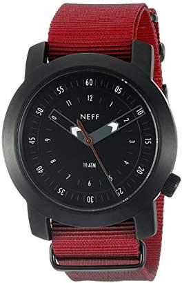 Neff Men's NF0235BKMR Tactical Analog Display Japanese Quartz Red Watch