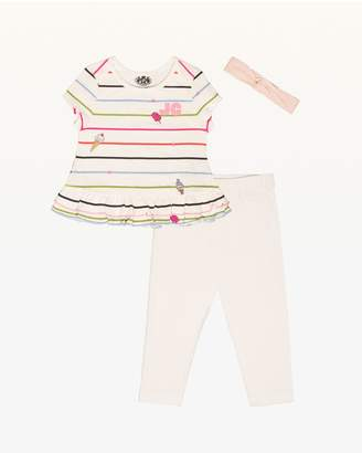 Juicy Couture Sweet Stripe Tee & Legging Set for Baby