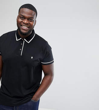 French Connection Plus Short Sleeve Piping Polo Shirt