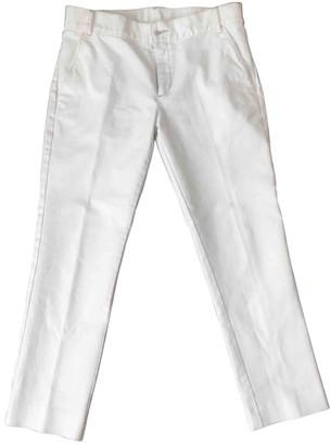 soeur White Cotton Trousers for Women