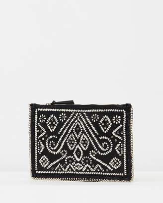 Topshop Leather Woven Crossbody Bag