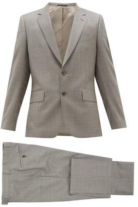 Paul Smith Soho Fit Single Breasted Virgin Wool Suit - Mens - Grey