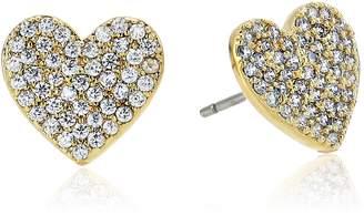 Kate Spade Pave Heart Stud Earrings