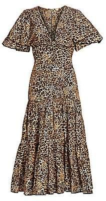 Johanna Ortiz Women's Animal Jewel Short Sleeve Midi Dress