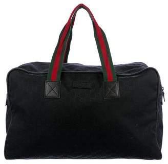 Gucci GG Canvas Web Duffel Bag