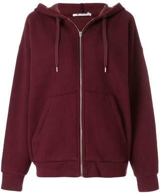 Alexander Wang Dense Fleece Zip Thru hoodie