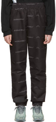A-Cold-Wall* Black All-Over Lounge Pants